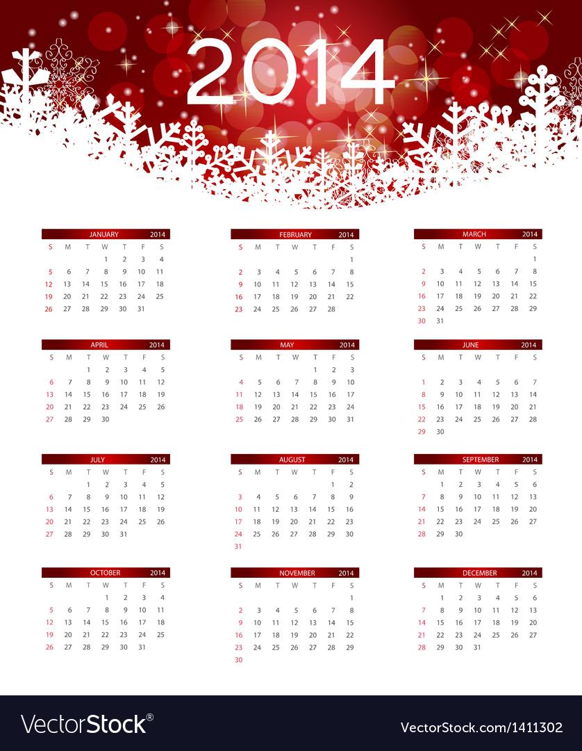 2014 new year calendar vector   Price: 1 Credit (USD $1)