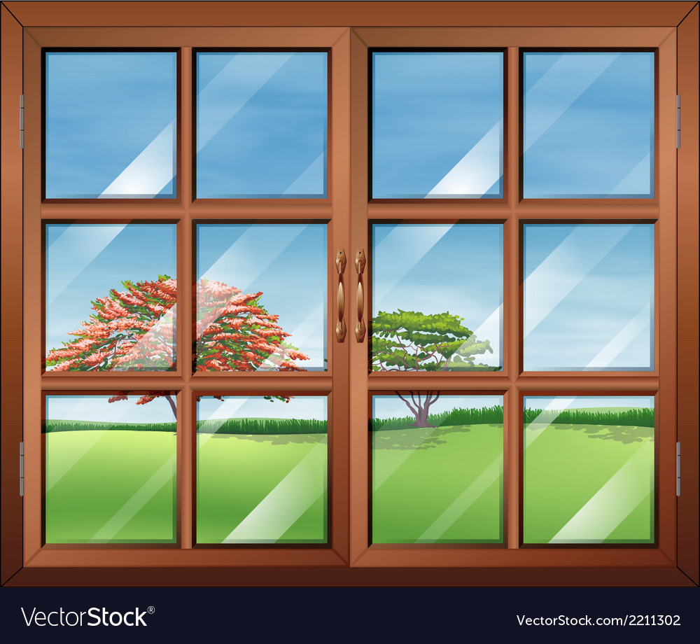 A window with clear glasspanes vector | Price: 1 Credit (USD $1)