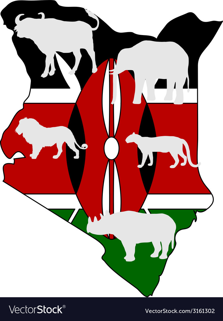 Big five kenya vector | Price: 1 Credit (USD $1)