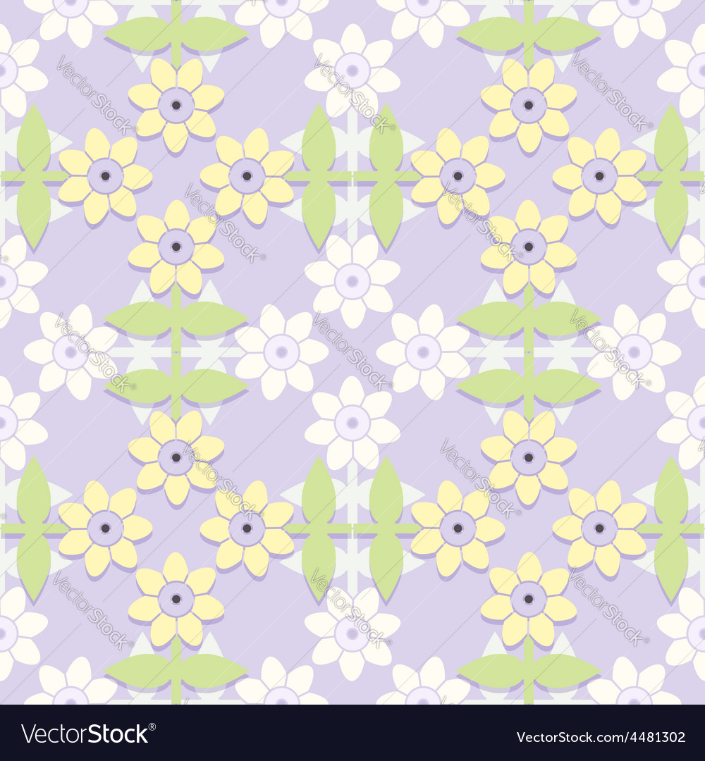Childrens floral seamless pattern vector | Price: 1 Credit (USD $1)
