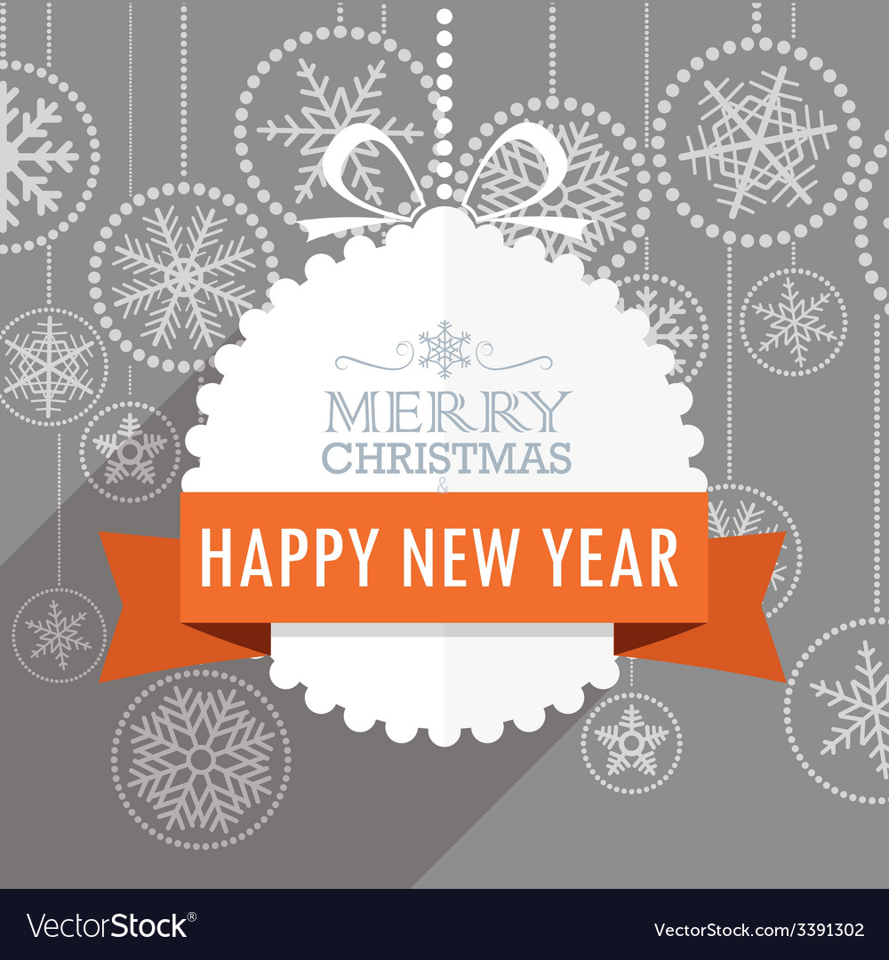 Christmas greeting card with snowflakes on backgro vector | Price: 1 Credit (USD $1)