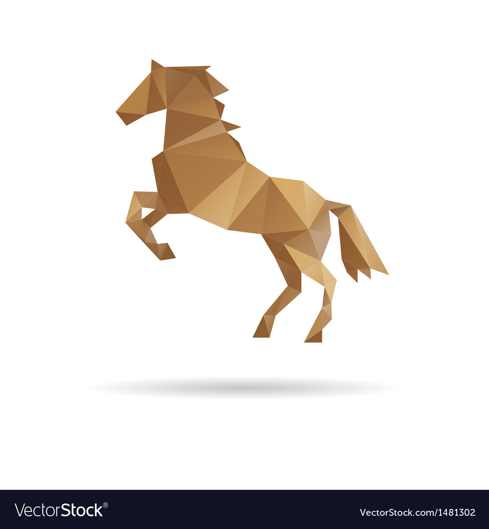Horse abstract isolated on a white backgrounds vector | Price: 1 Credit (USD $1)