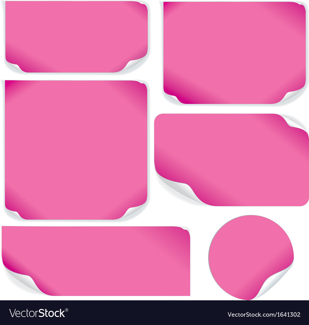 Isolated pink paper sheets pack vector | Price: 1 Credit (USD $1)