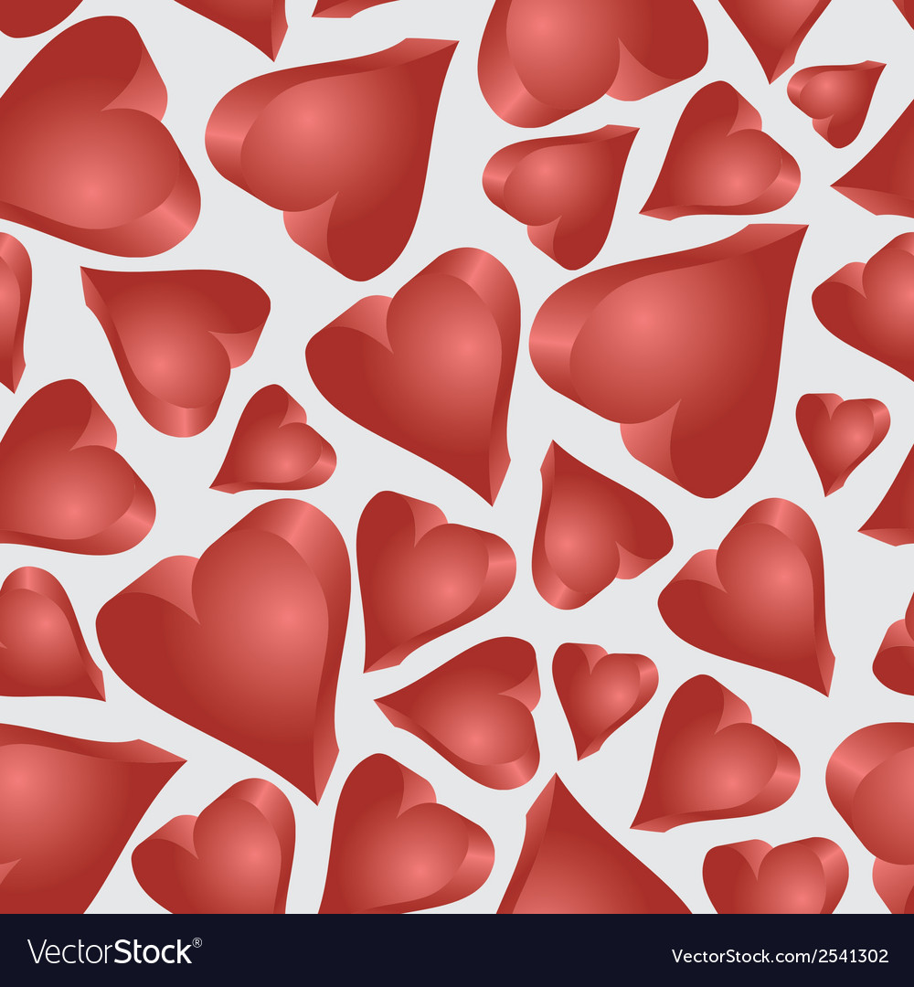 Love 3d hearts seamless pattern eps10 vector | Price: 1 Credit (USD $1)