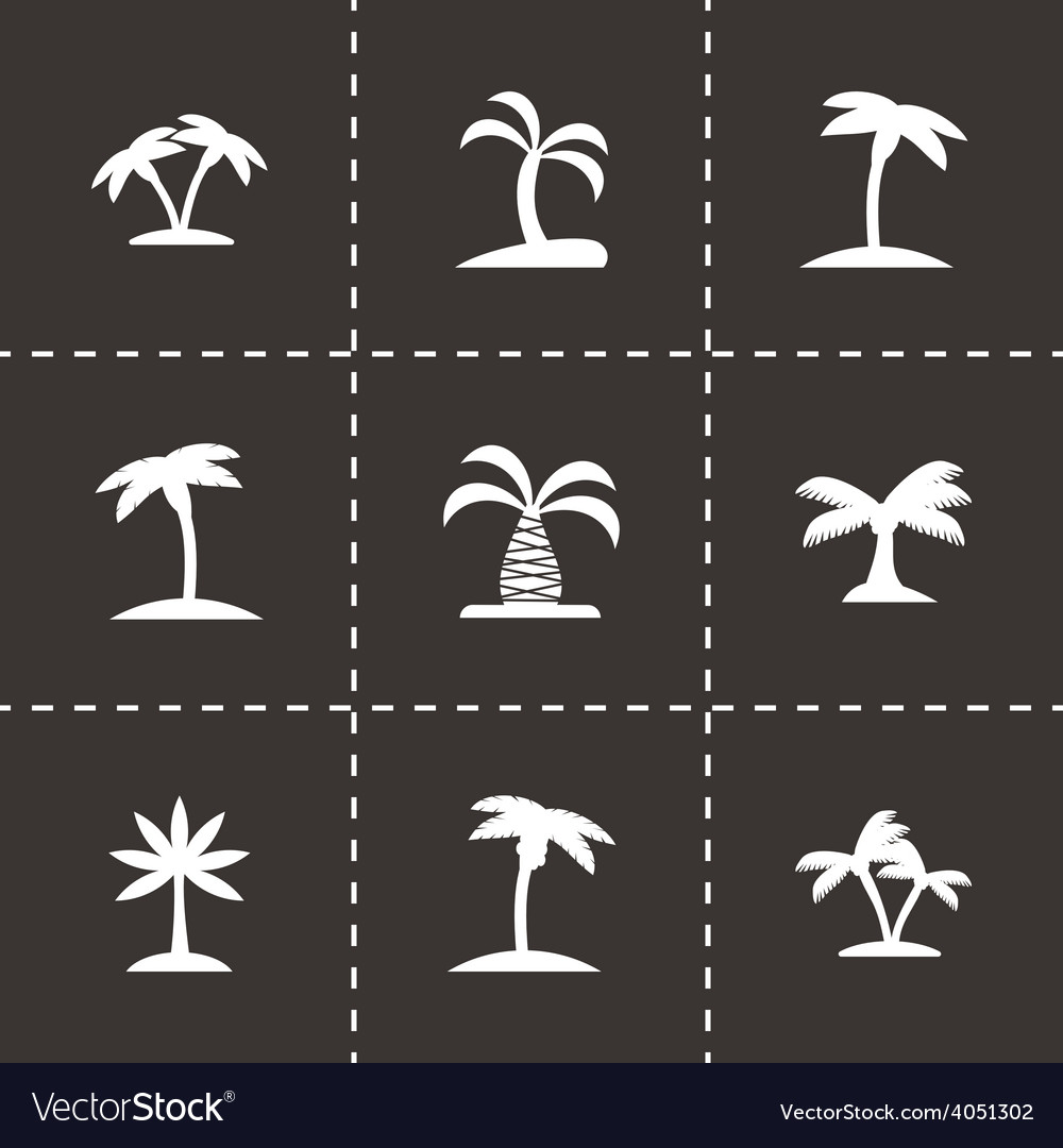 Palm icon set vector | Price: 1 Credit (USD $1)
