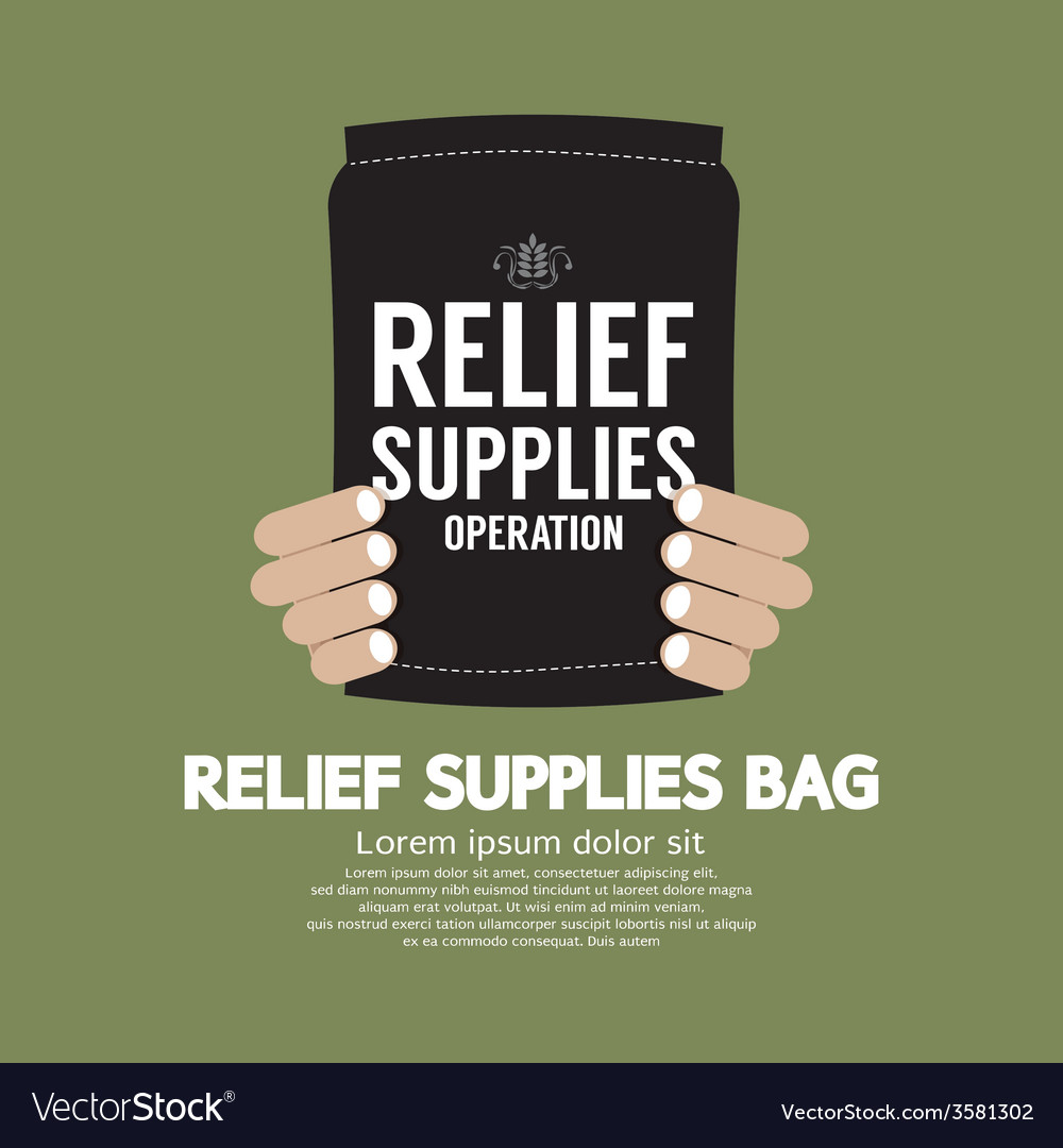 Relief supplies bag vector | Price: 1 Credit (USD $1)