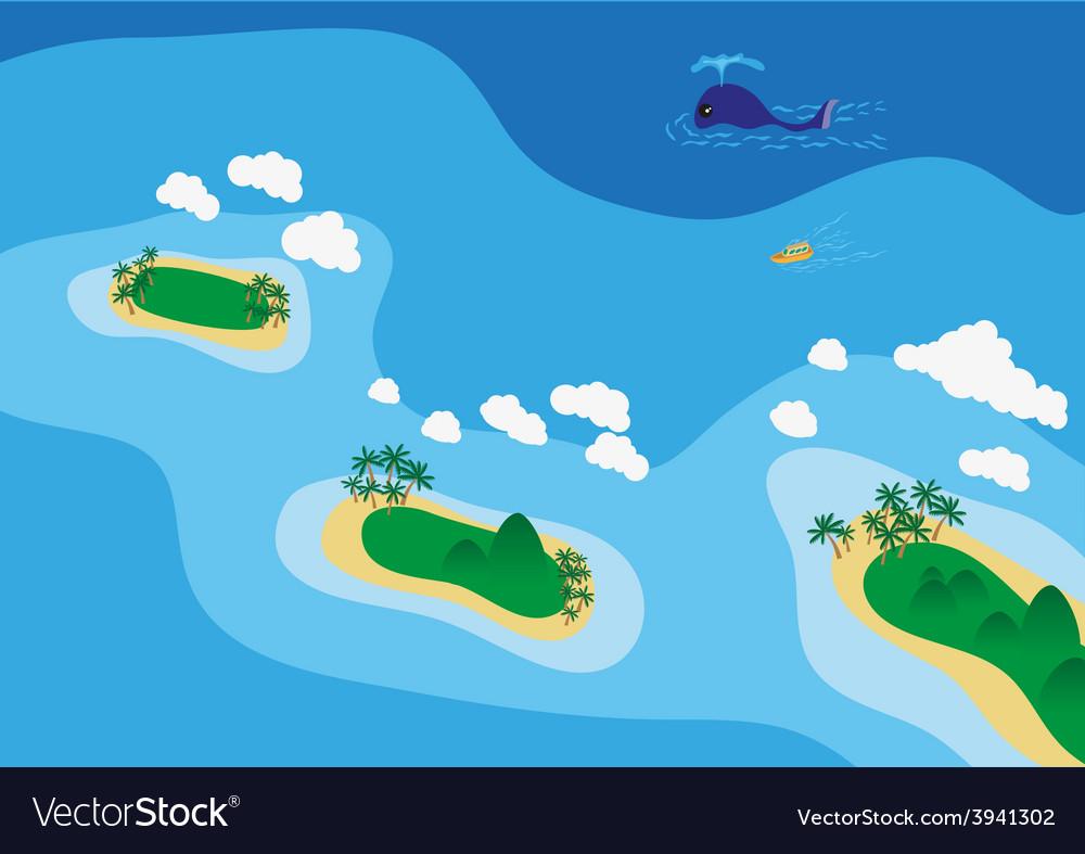 Sea scape vector | Price: 1 Credit (USD $1)