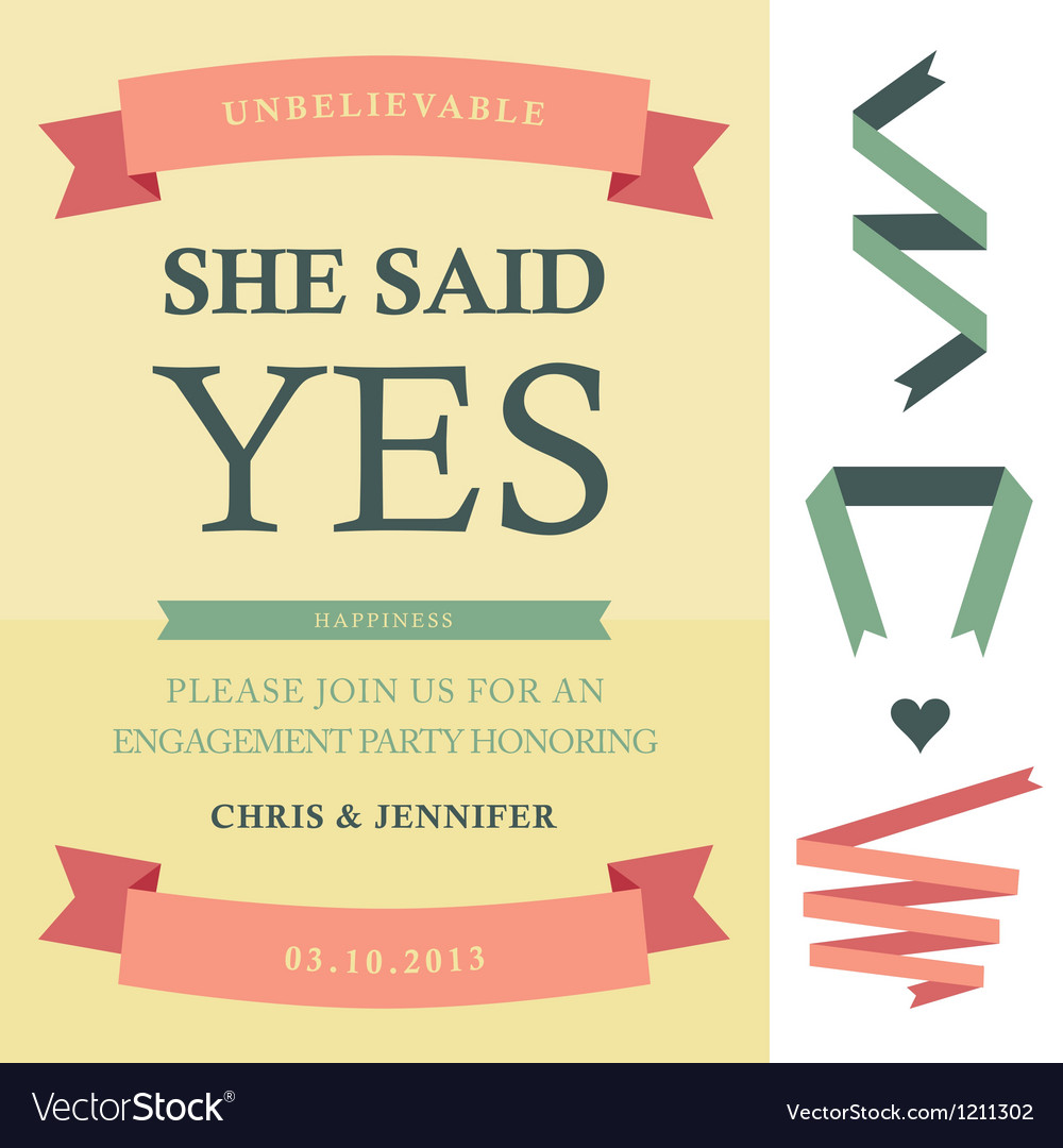 She said yes vector | Price: 3 Credit (USD $3)