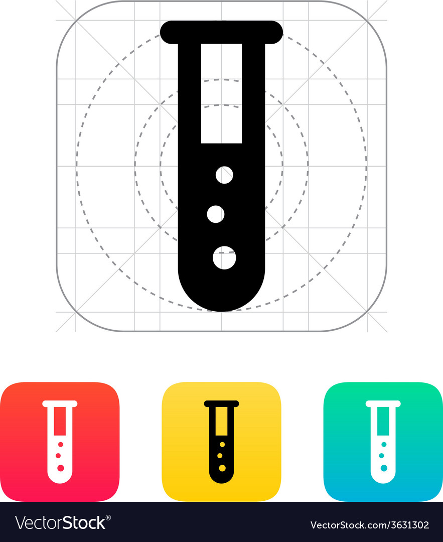 Test tube with bubbles icon vector | Price: 1 Credit (USD $1)