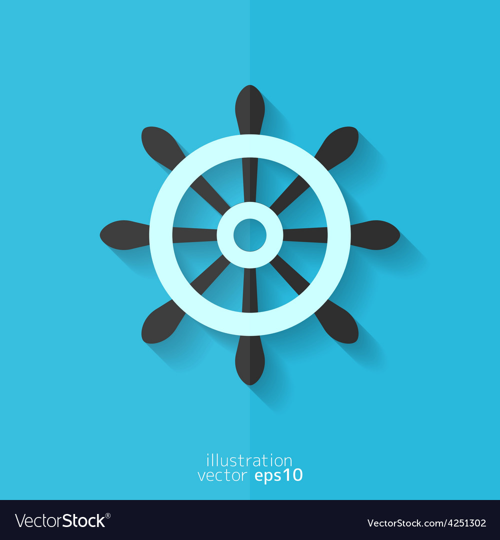 Wheel web icon vector | Price: 1 Credit (USD $1)