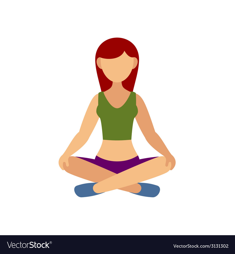Woman in pose practicing yoga vector | Price: 1 Credit (USD $1)