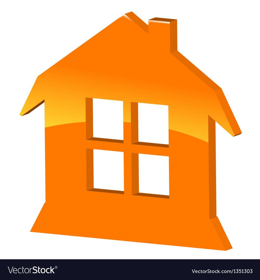 3d symbol home vector   Price: 1 Credit (USD $1)