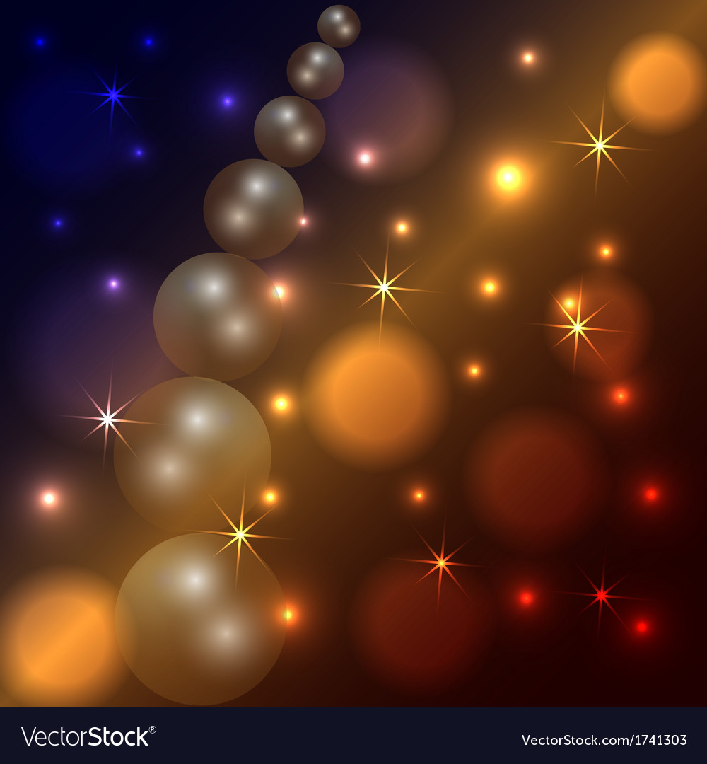 Abstract star and pearl dark background vector | Price: 1 Credit (USD $1)