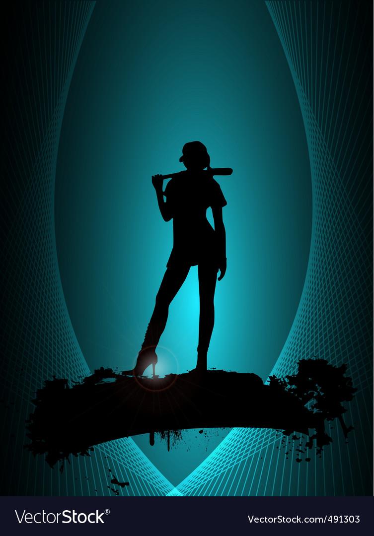 Baseball poster vector | Price: 1 Credit (USD $1)