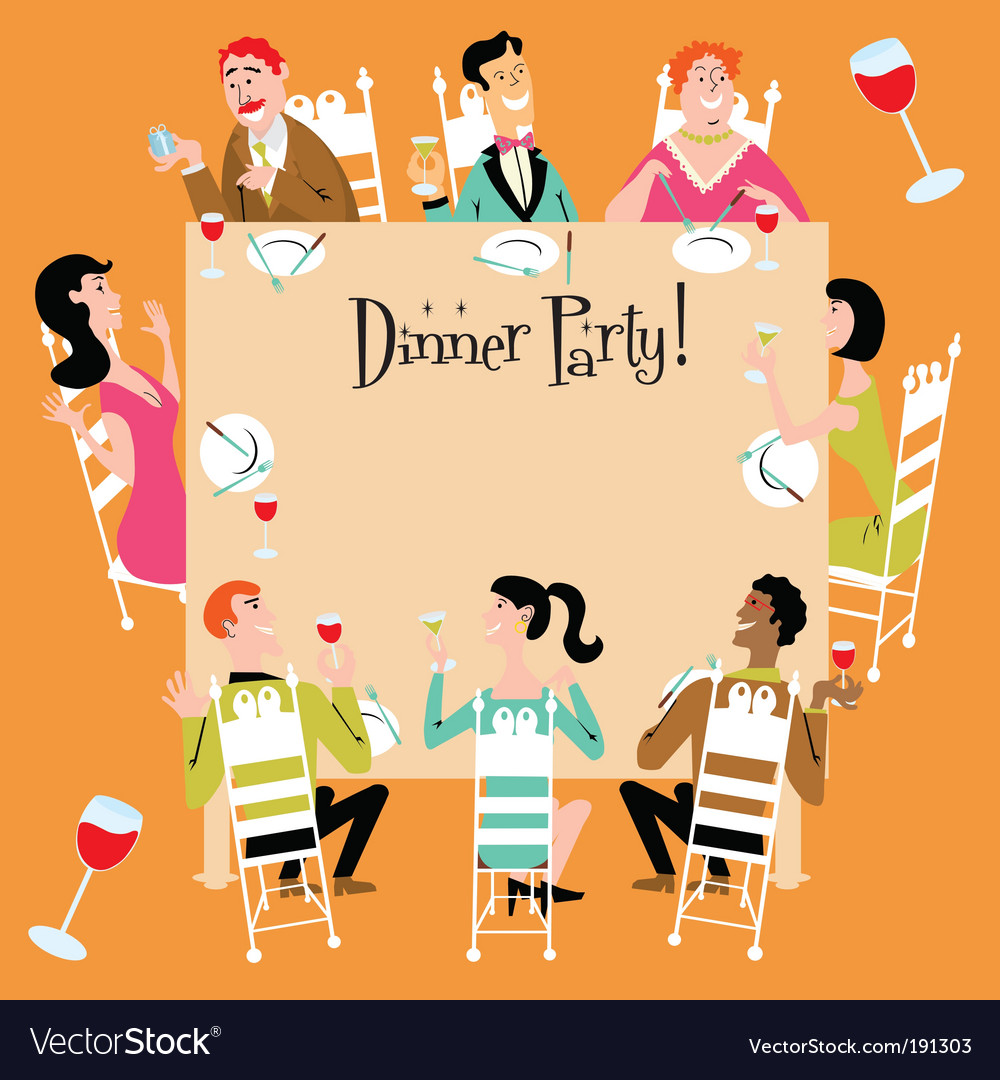 Dinner party vector | Price: 3 Credit (USD $3)