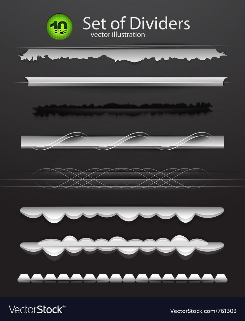 Divider set vector | Price: 1 Credit (USD $1)