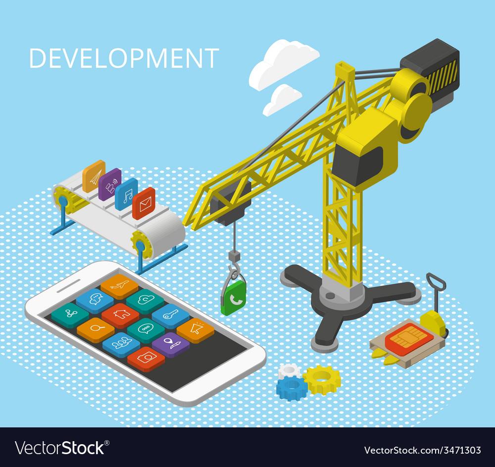 Mobile app development vector | Price: 1 Credit (USD $1)