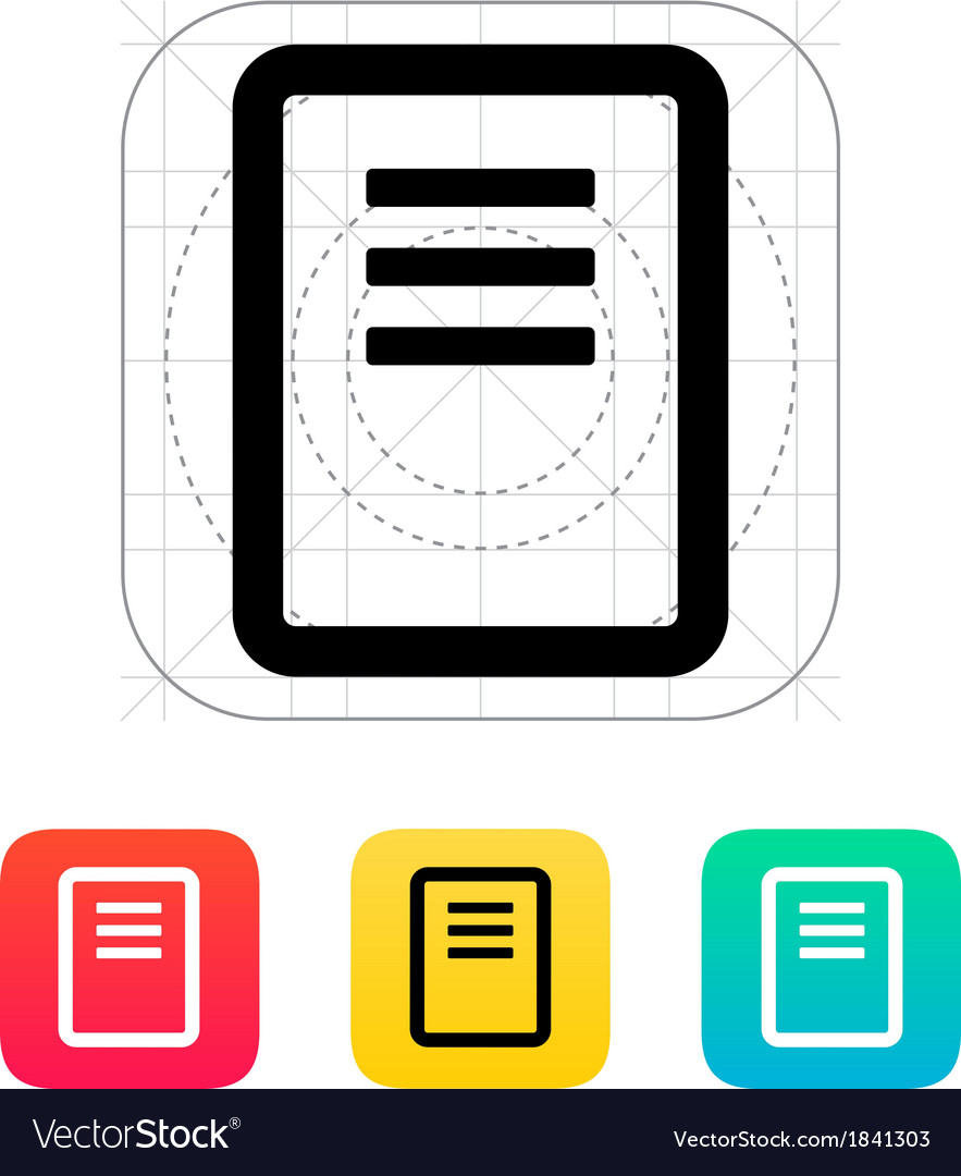Note page icon vector | Price: 1 Credit (USD $1)