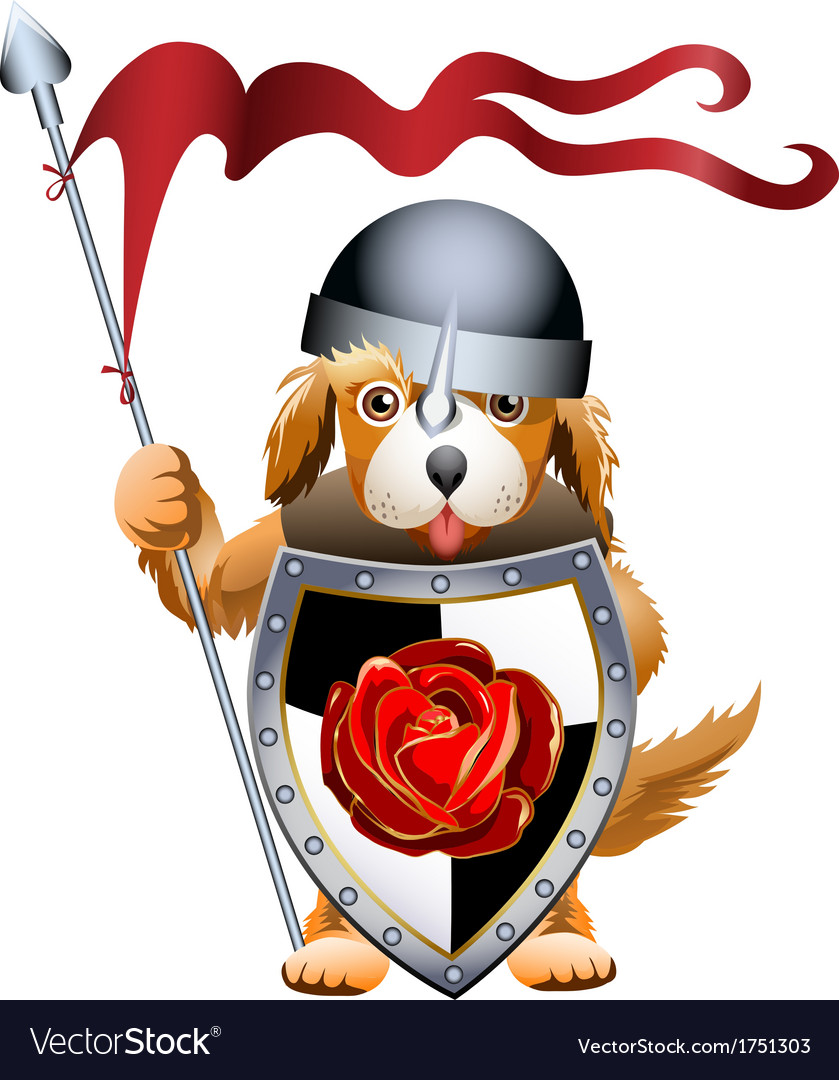 Puppy knight vector | Price: 3 Credit (USD $3)