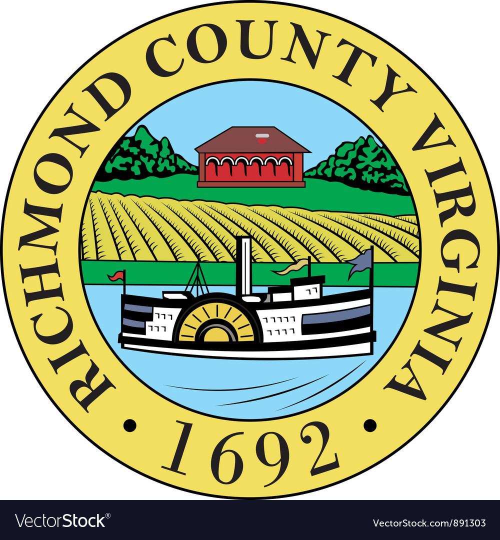 Richmond county seal vector | Price: 1 Credit (USD $1)