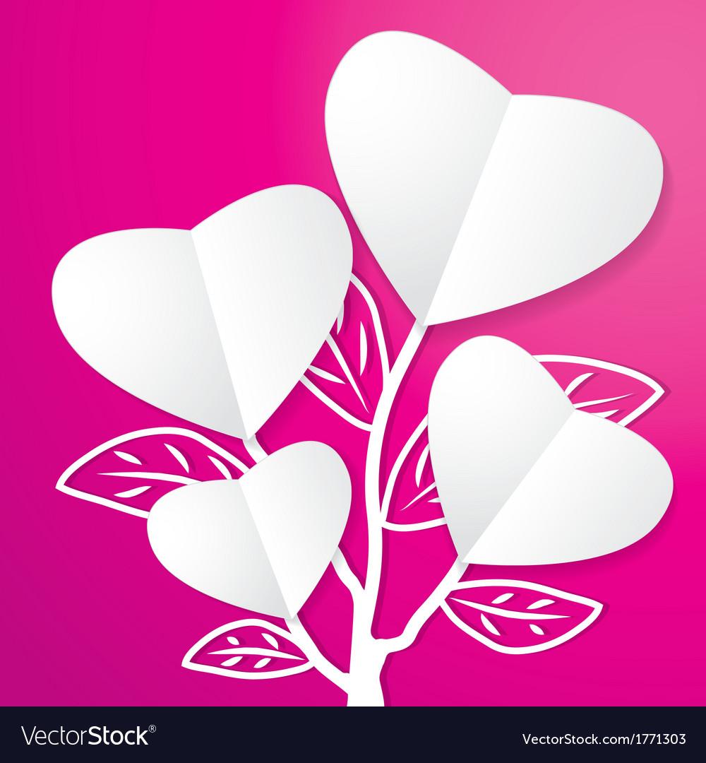 Tree of paper heart vector | Price: 1 Credit (USD $1)