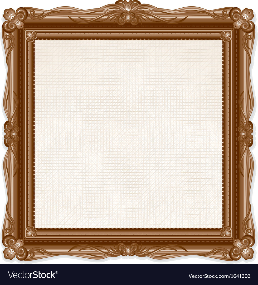 Vintage picture frame isolated on white background vector | Price: 1 Credit (USD $1)