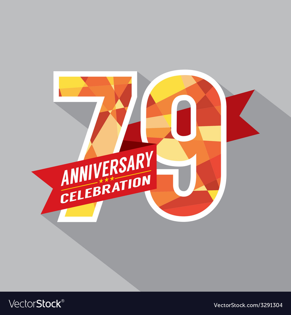 79th years anniversary celebration design vector | Price: 1 Credit (USD $1)