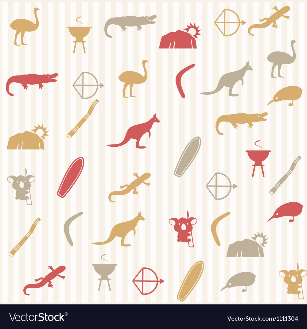Australian seamless pattern vector | Price: 1 Credit (USD $1)