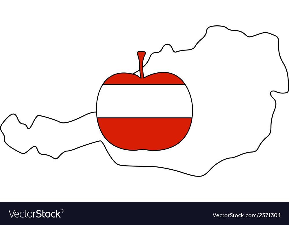 Austrian apple vector | Price: 1 Credit (USD $1)