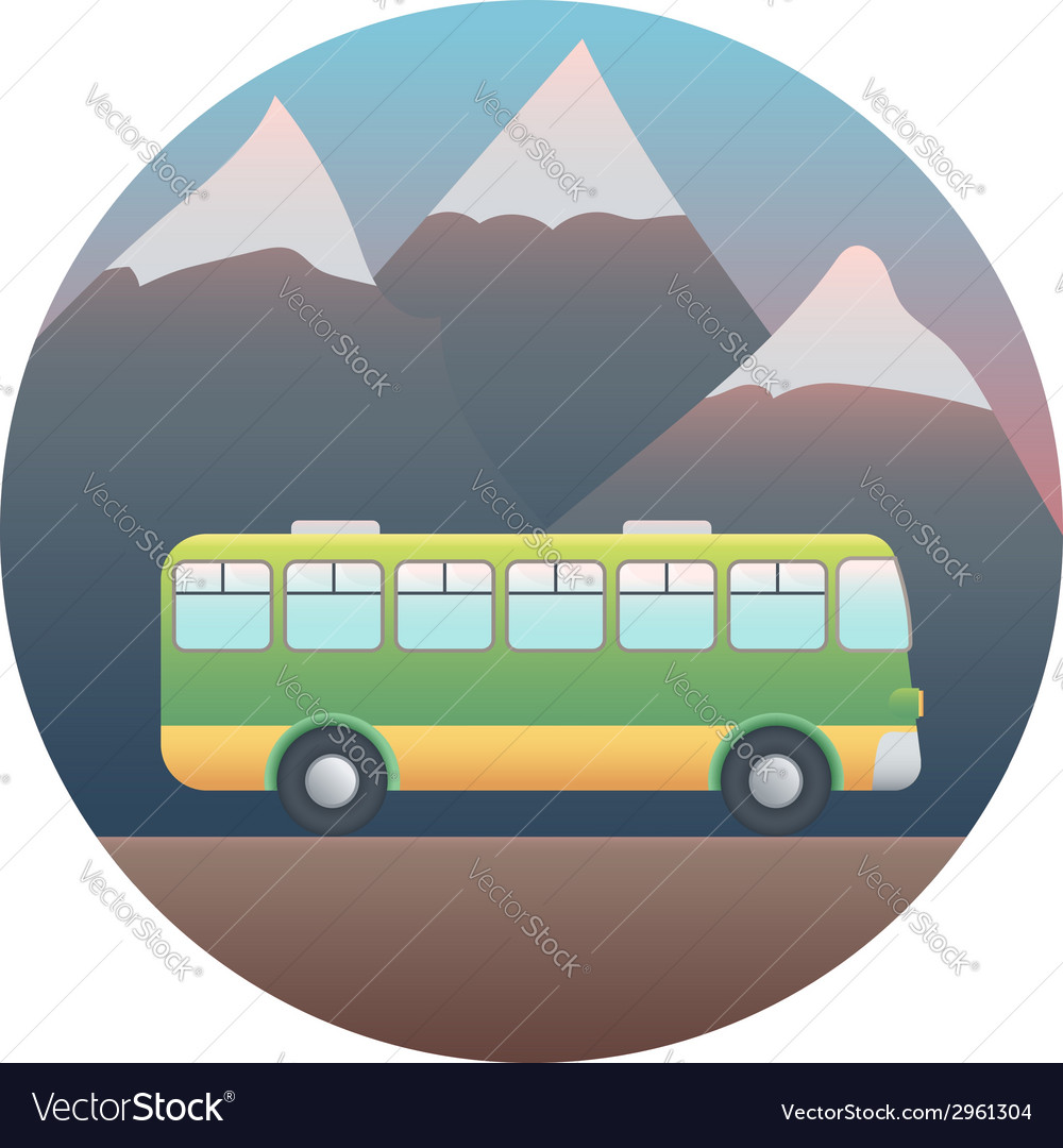 Bus detailed vector | Price: 1 Credit (USD $1)