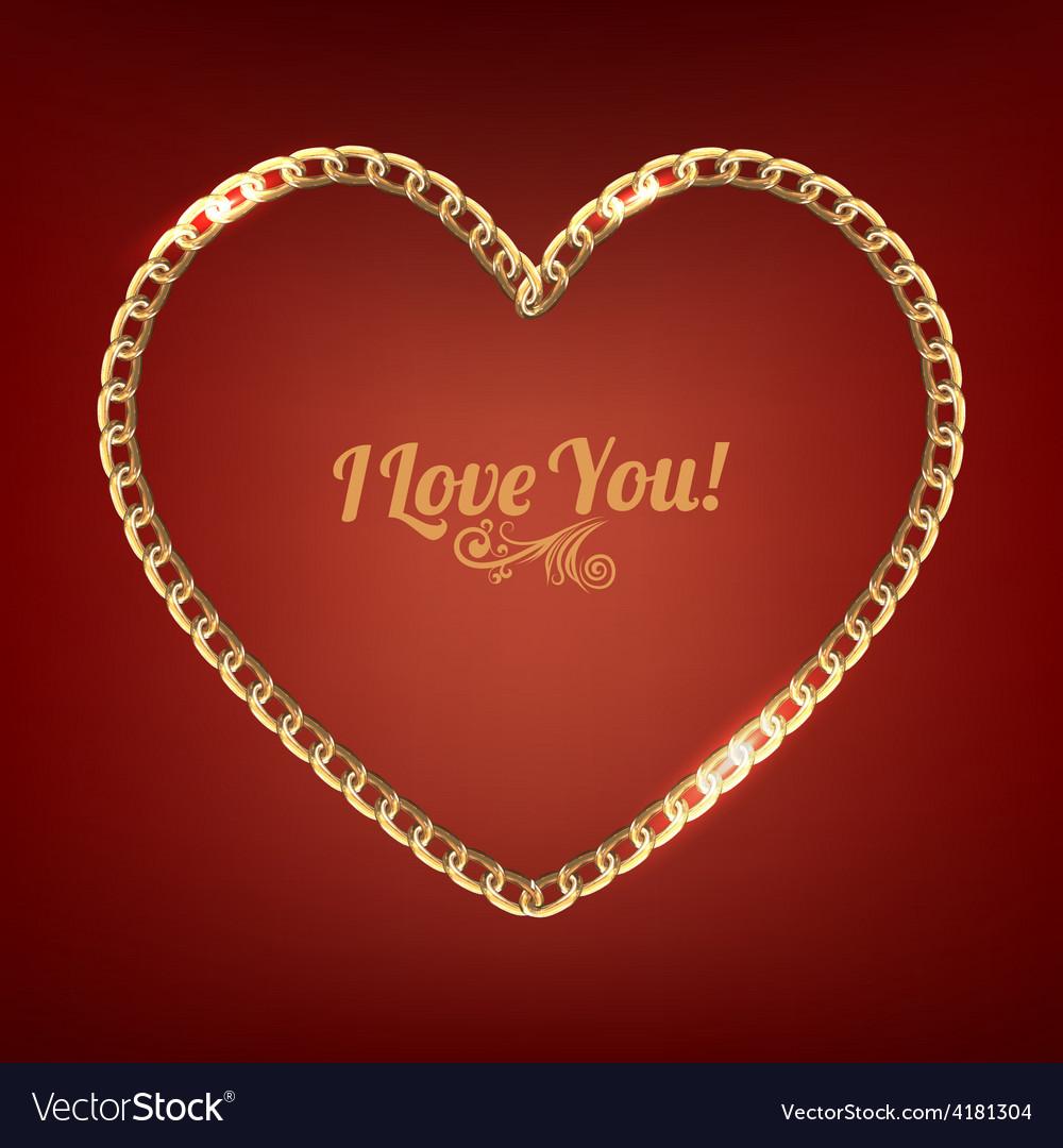Chain heart vector   Price: 1 Credit (USD $1)
