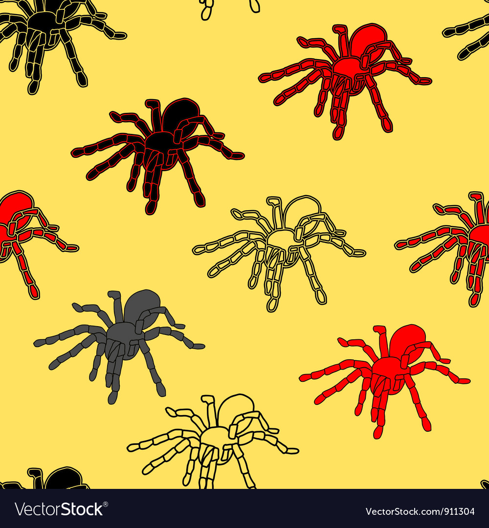 Halloween spider seamless pattern vector | Price: 1 Credit (USD $1)