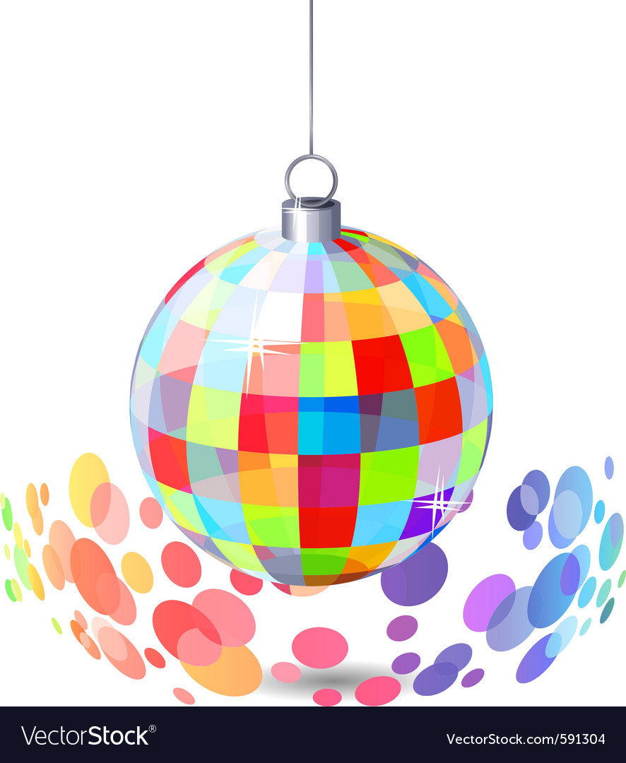 Hanging mirror ball vector | Price: 1 Credit (USD $1)