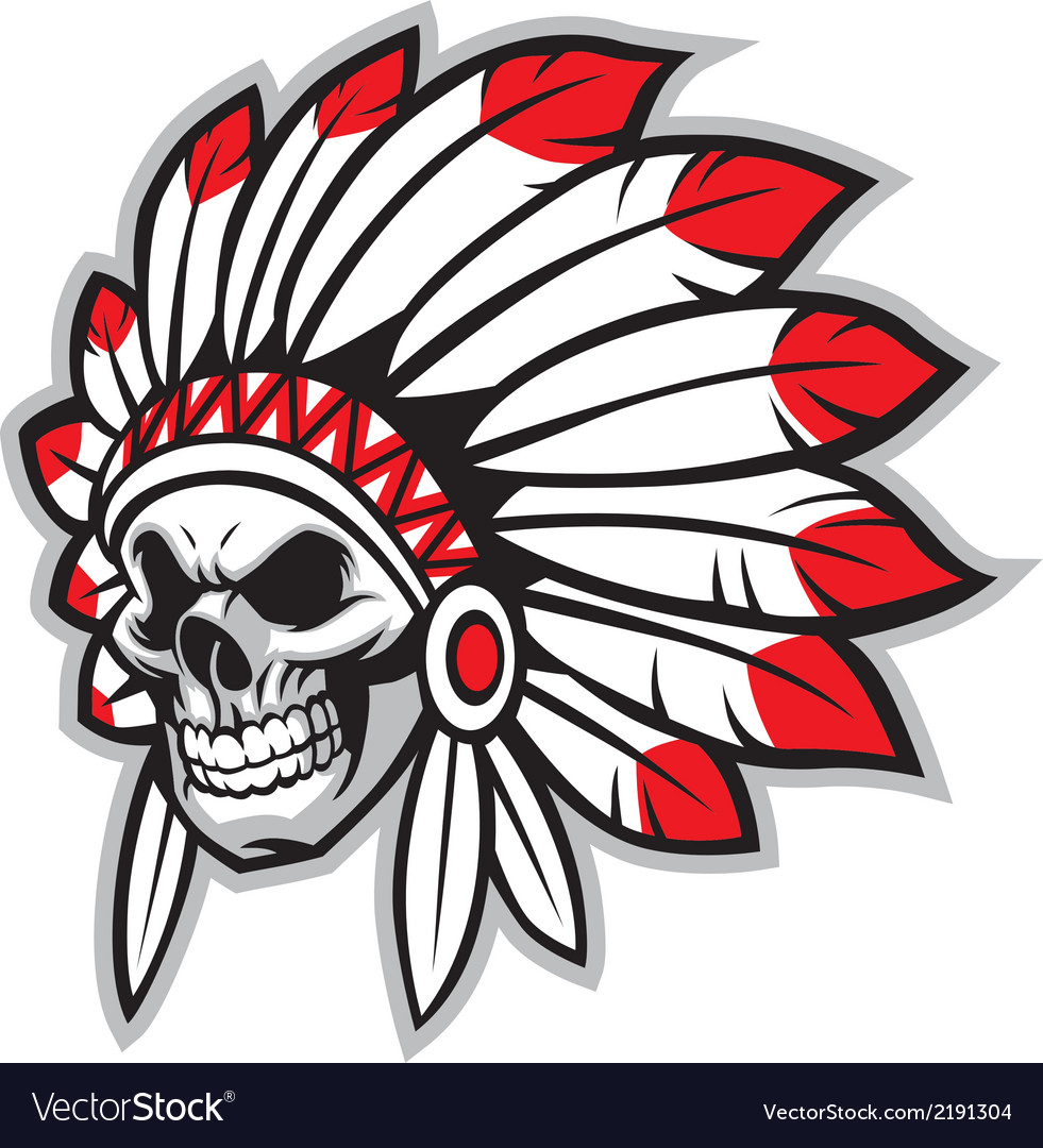 Indian skull chief vector | Price: 1 Credit (USD $1)