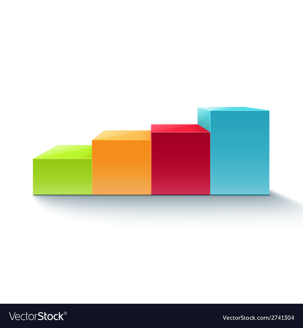 Infographic colorful chart diagram vector | Price: 1 Credit (USD $1)