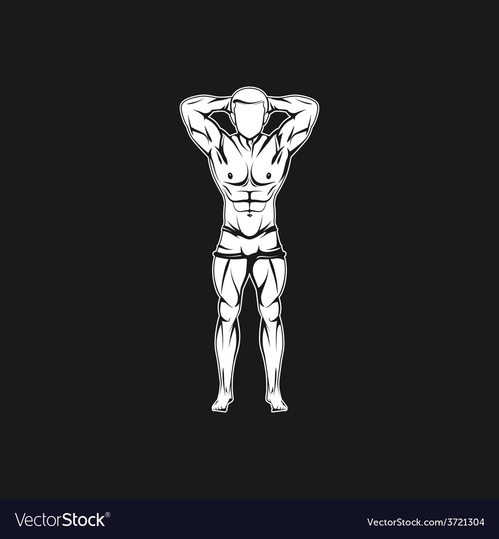 Muscled man body silhouette vector | Price: 1 Credit (USD $1)