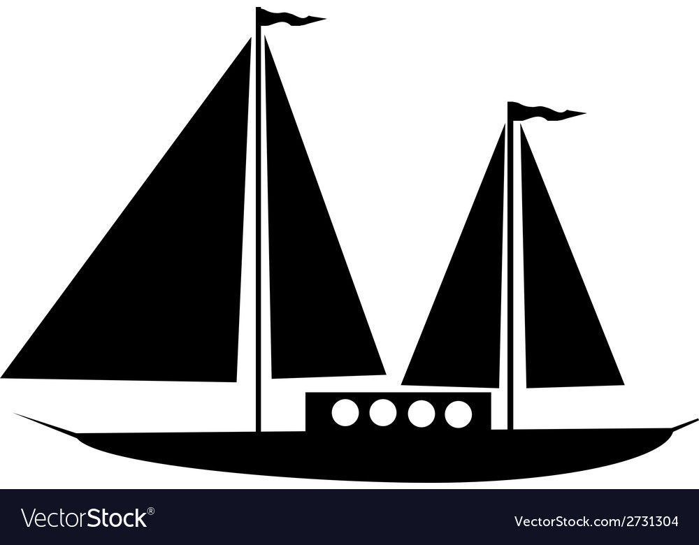 Sailing ship icon vector | Price: 1 Credit (USD $1)