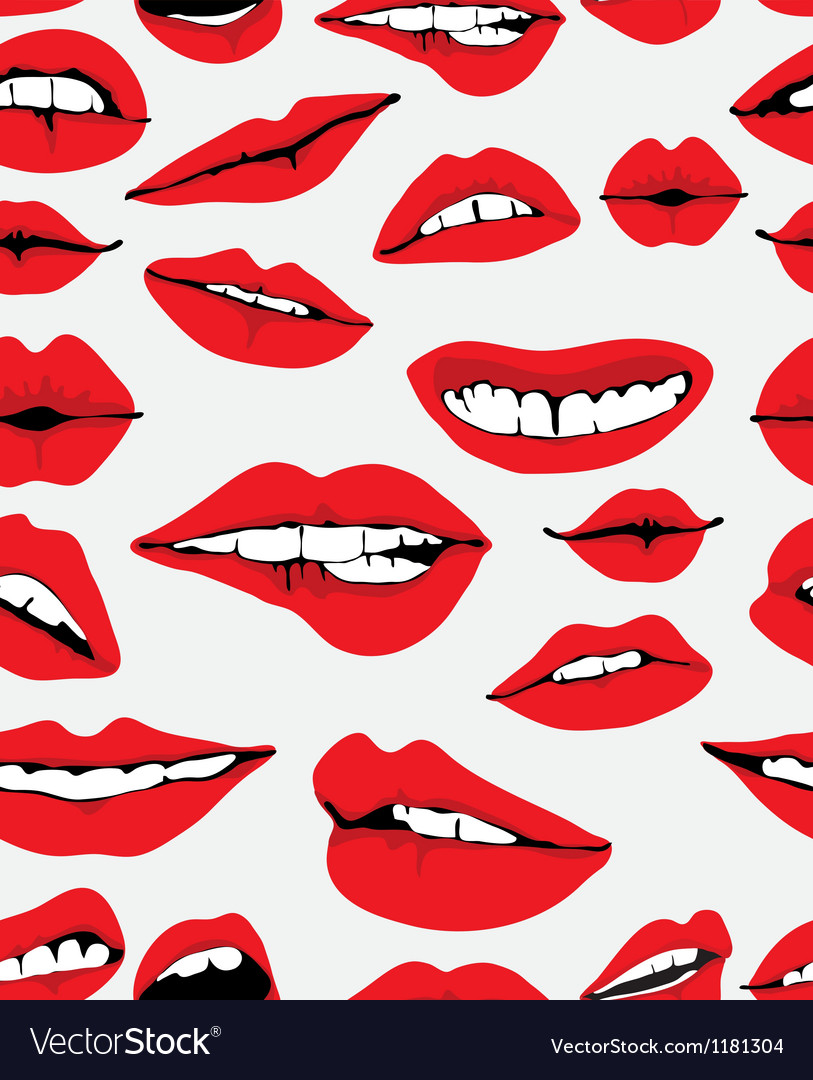 Seamless lips backgound vector | Price: 1 Credit (USD $1)