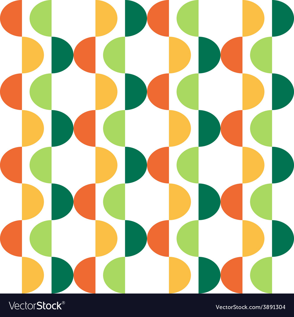 Semicircle seamless pattern vector | Price: 1 Credit (USD $1)