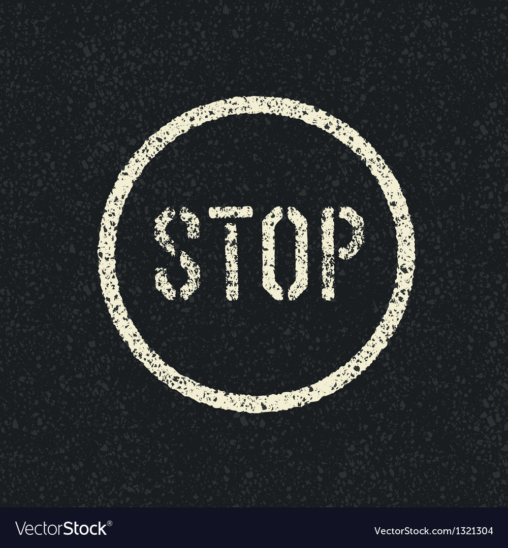 Stop road sign vector | Price: 1 Credit (USD $1)
