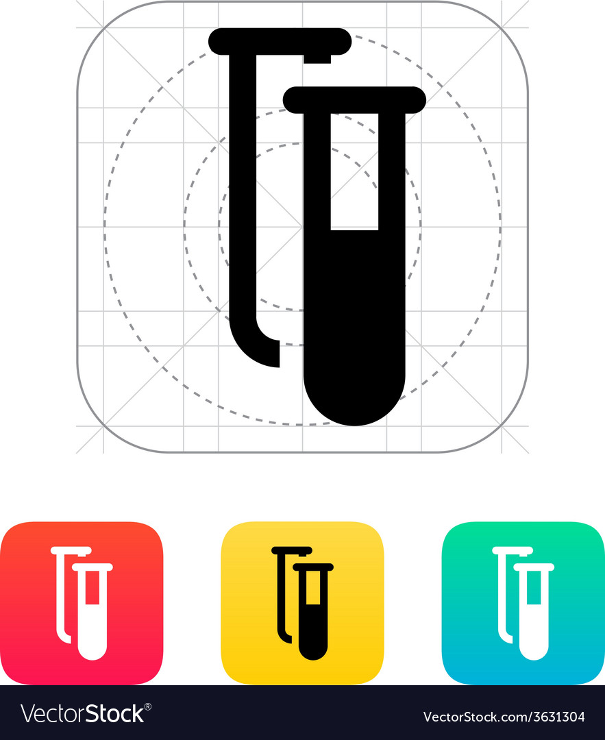 Test tubes icon vector | Price: 1 Credit (USD $1)