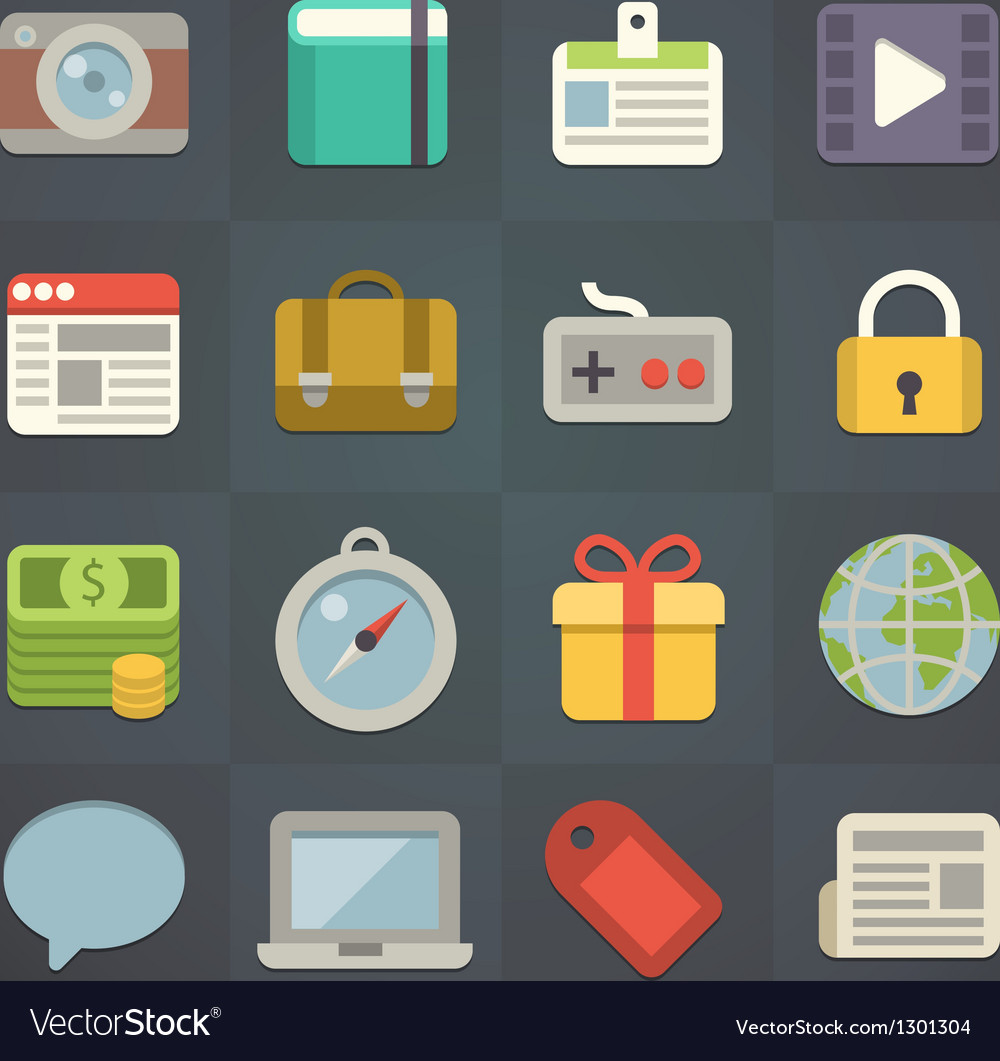 Universal flat icons for applications vector | Price: 3 Credit (USD $3)