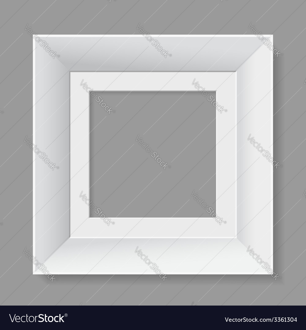 White frame isolated on gray background vector | Price: 1 Credit (USD $1)