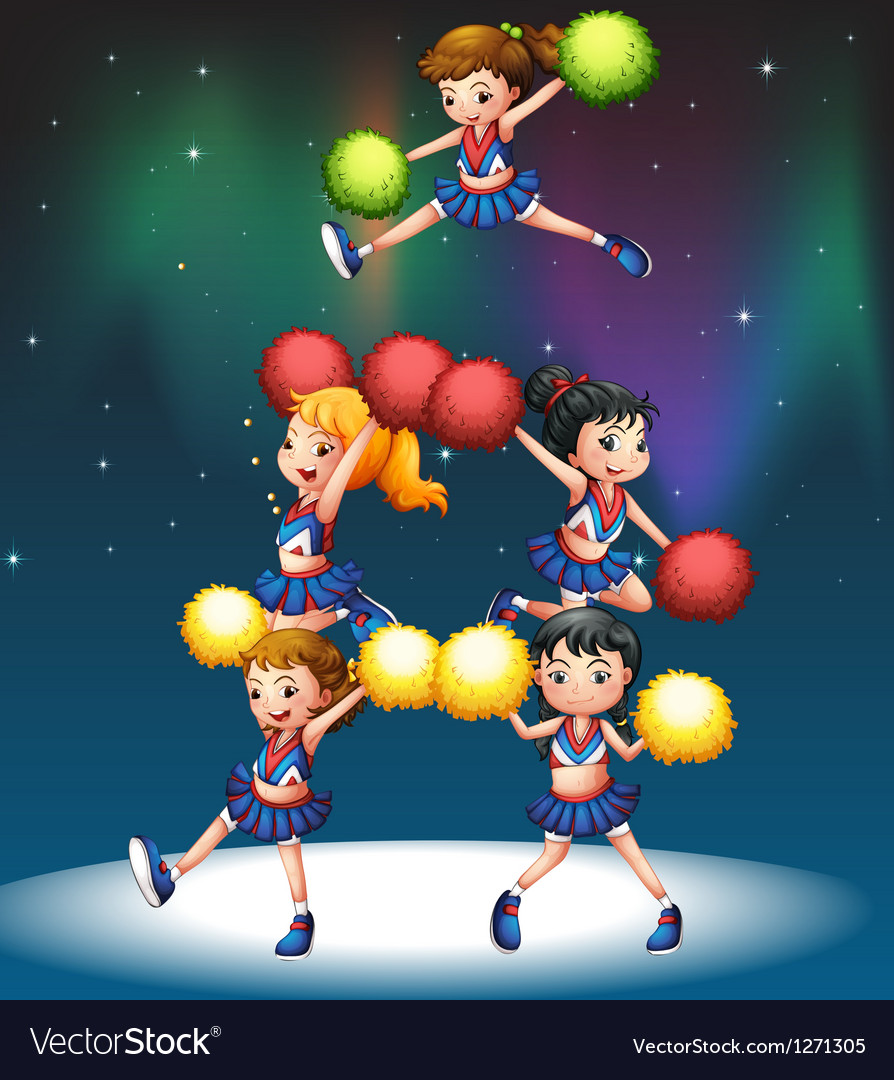 A cheering squad vector | Price: 1 Credit (USD $1)