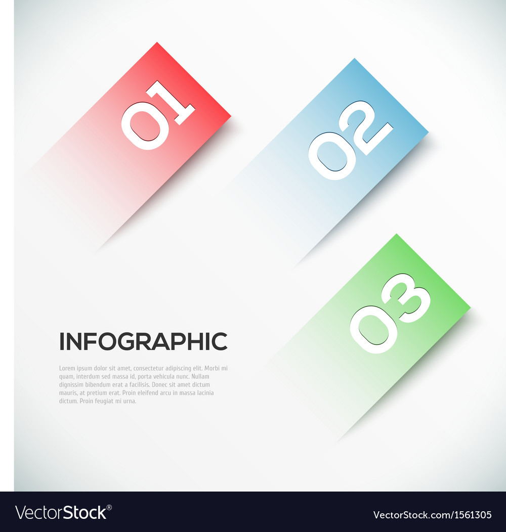 Abstract 3d paper infographics vector | Price: 1 Credit (USD $1)