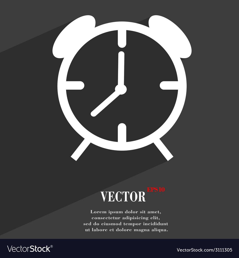 Alarm clock icon symbol flat modern web design vector | Price: 1 Credit (USD $1)