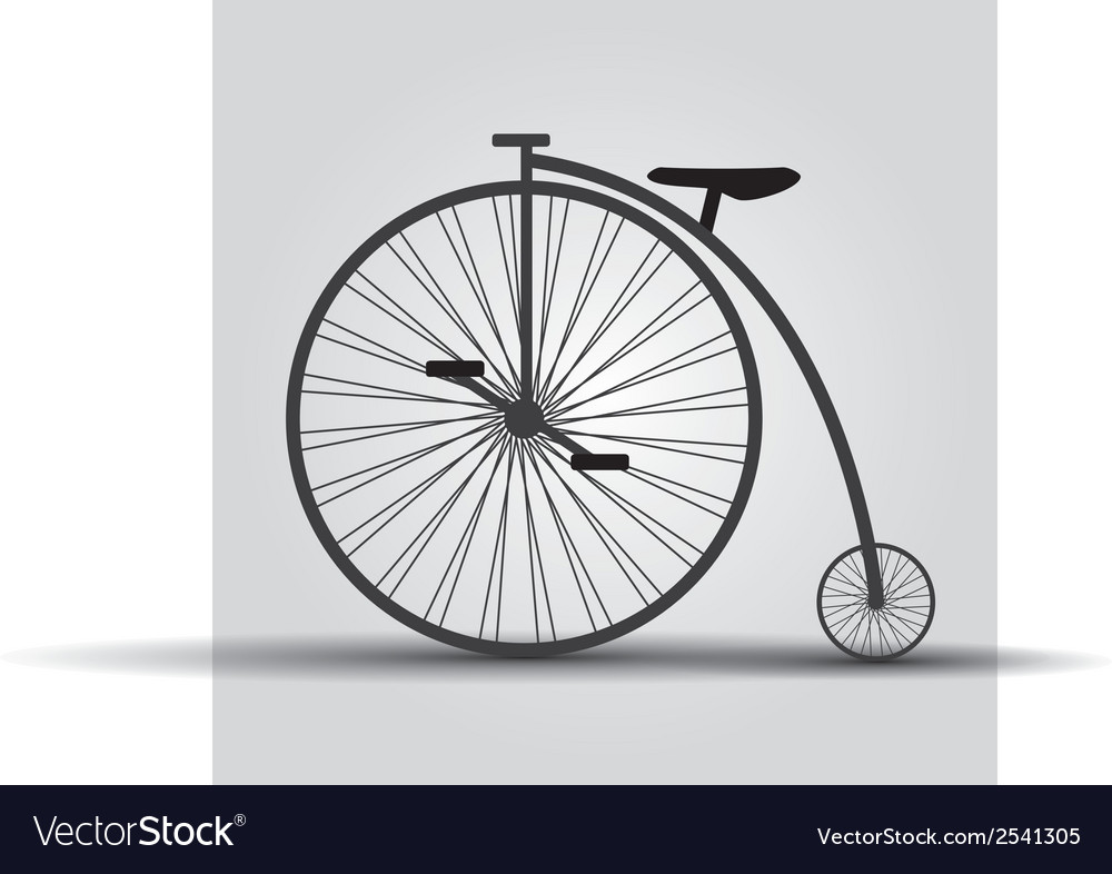 Bicycle historic eps10 vector | Price: 1 Credit (USD $1)
