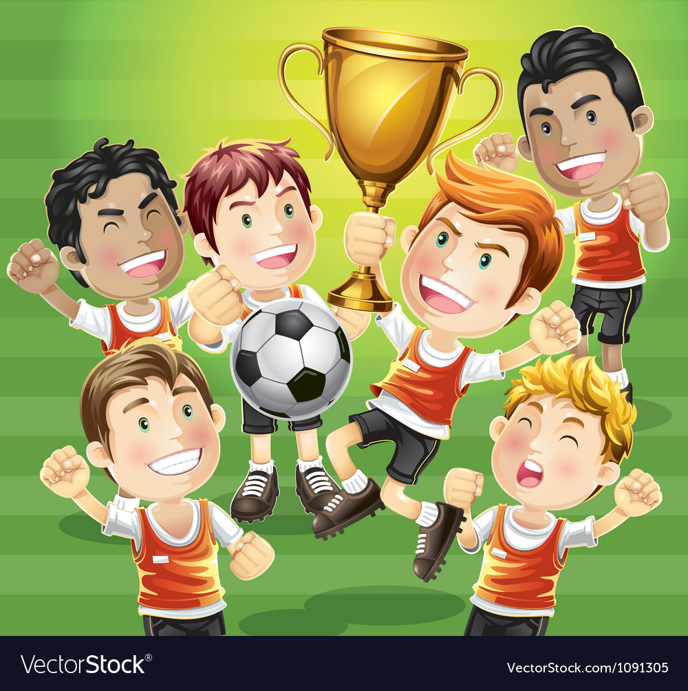 Childrens soccer champions vector   Price: 3 Credit (USD $3)