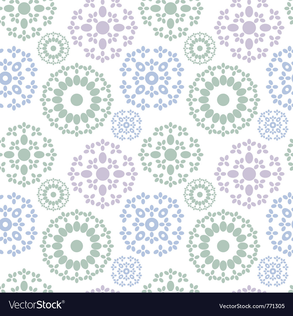 Christmas seamless background with snowflakes vector | Price: 1 Credit (USD $1)