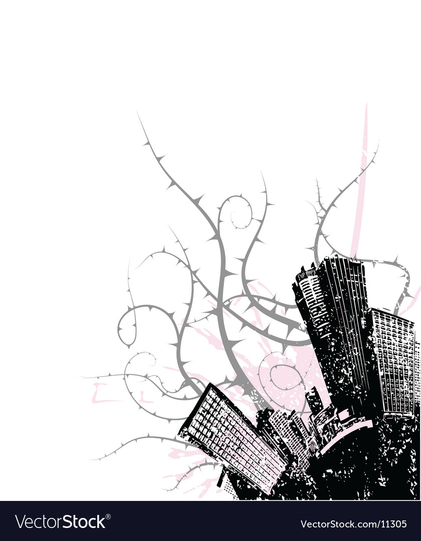 City corner design vector | Price: 1 Credit (USD $1)